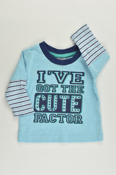 Tiny Little Wonders Size 000 (0-3 months) 'I've Got The Cute Factor' Top