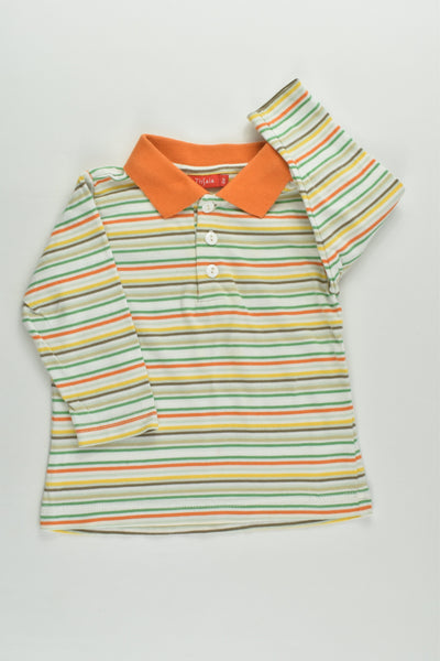 Tissaia Size 00 (6 months) Striped Collared Top