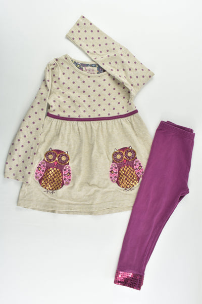 TU Size 2-3 (92-98 cm) Purple Owl Set