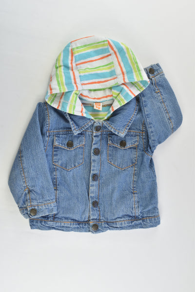 Tuc Tuc Size 0 (9 months, 71 cm) Lined Hooded Denim Jacket