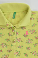 United Colors of Benetton Size 10-11 Floral Long Polo Shirt