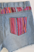 Wave Zone Size 12 Stretchy Denim Shorts