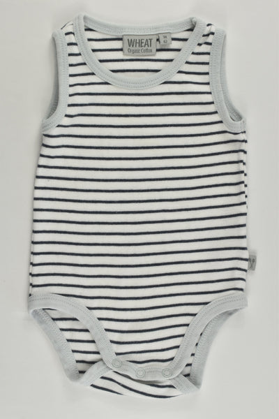Wheat (Denmark) Size 000 (3 months) Striped Organic Cotton Bodysuit