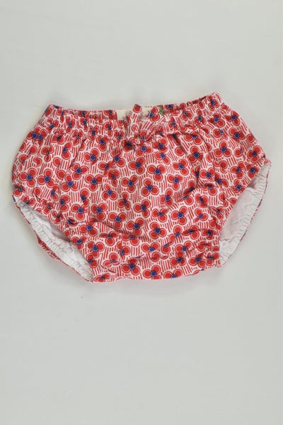 Young Hearts Size 000 Lined Retro Flowers Bloomers