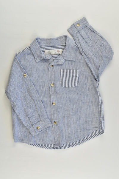 Zara Size 0 (6/9 months) Striped Shirt