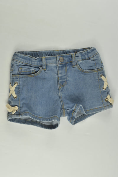 Zara Size 2 Stretchy Denim Shorts