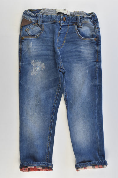 Zara Size 2/3 (98 cm) Stretchy Denim Pants