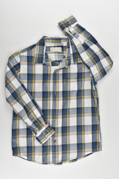 Zara Size 5/6 (116 cm) Checked Collared Shirt
