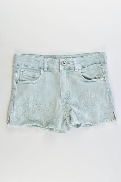 Zara Size 9 (134 cm) Stretchy Denim Shorts