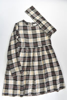 Zara Size 9/10 (140 cm) Checked Lined Winter Dress
