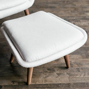 Amélie - Lounge Chair with Ottoman in Linen