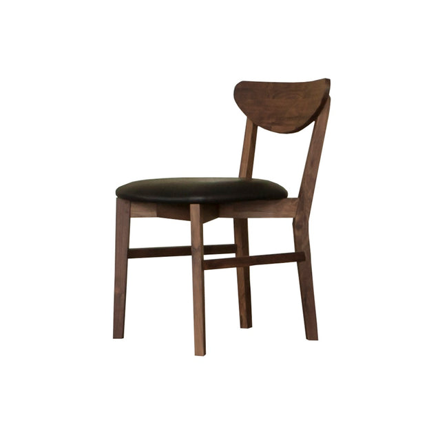 Vegan leather wood dining chairs