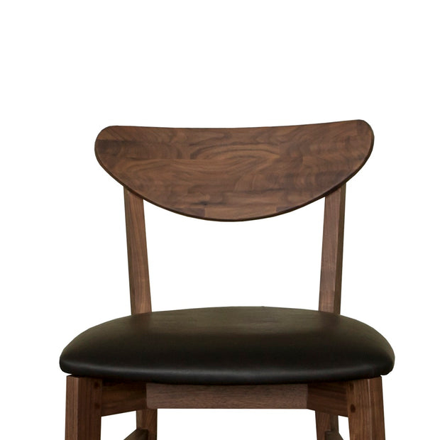Andy walnut brown wood dining chairs