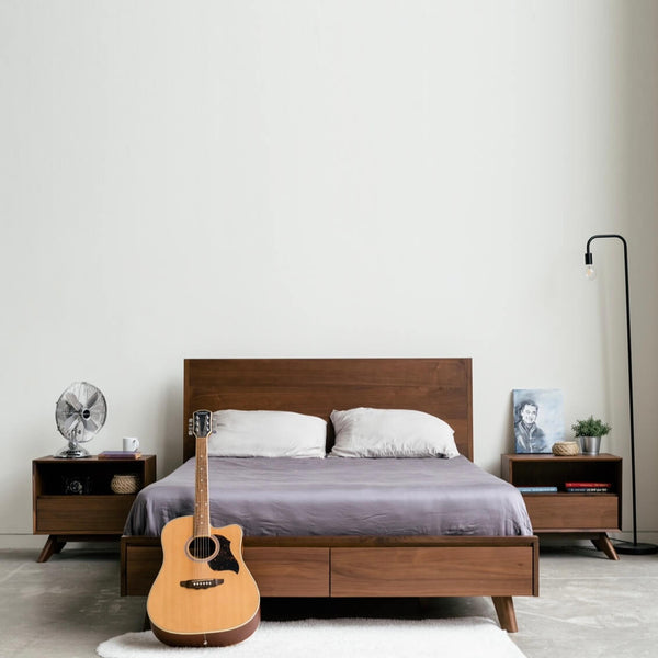 Joey - Walnut Storage Bed