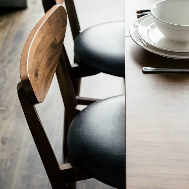 Andy - Set of Two Walnut Side Chairs