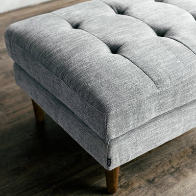Mies Shadow - Tweed Fabric Ottoman