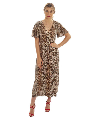 Hire Runaway The Label Leopard Print Wrap Dress