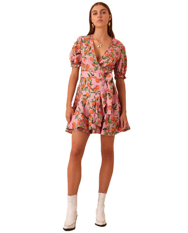Hire Finders Keepers Pink Clementine Wrap Dress
