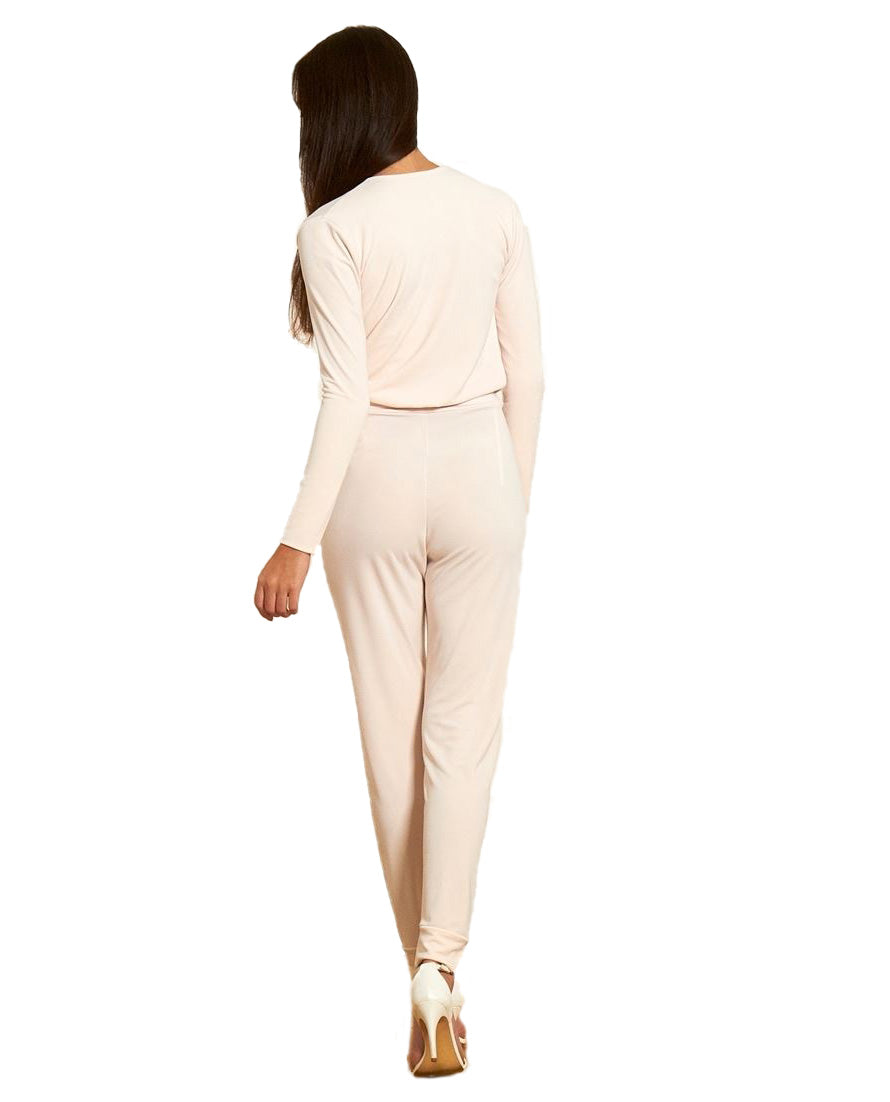 GORGEOUS COUTURE IVORY JUMPSUIT