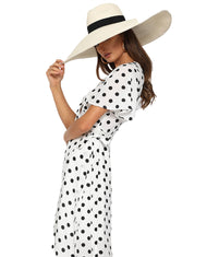 RUNAWAY THE LABEL HOLSTEIN WRAP DRESS
