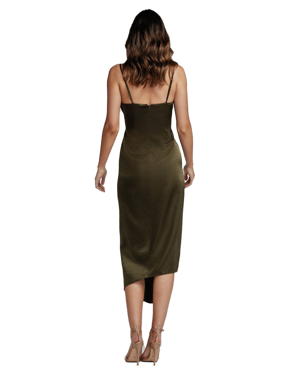 LEXI CARMEN OLIVE GREEN DRESS