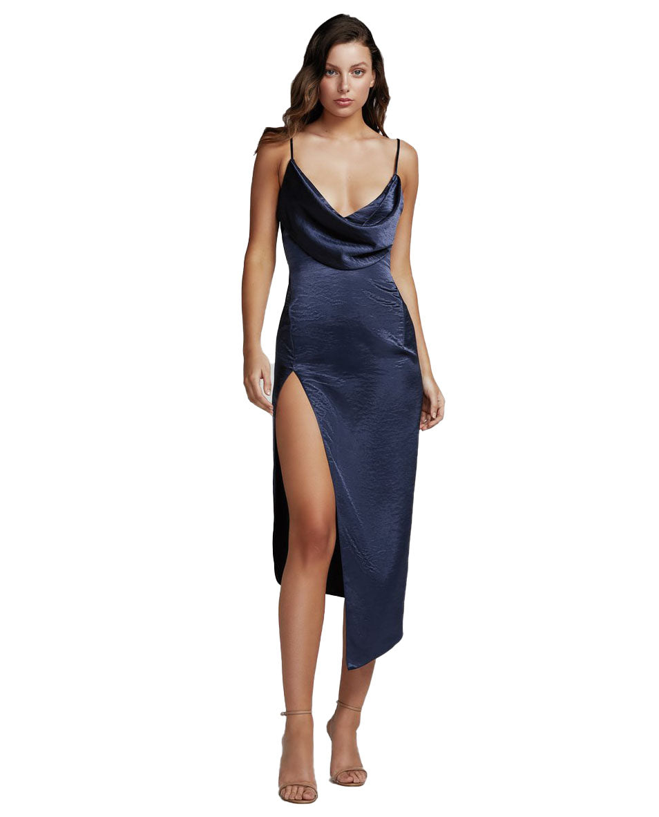 LEXI CARMEN DRESS IN NAVY