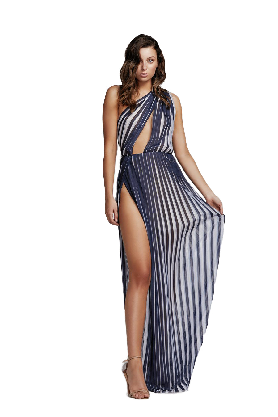 LEXI PEPPI MAXI DRESS IN BLUE & WHITE
