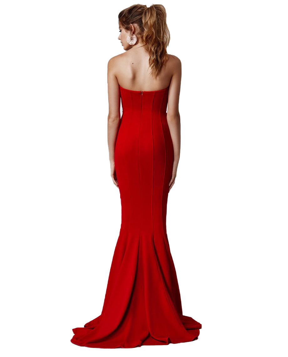 LEXI SAHAR DRESS IN RED