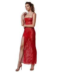 LEXI NABILA DRESS IN RED