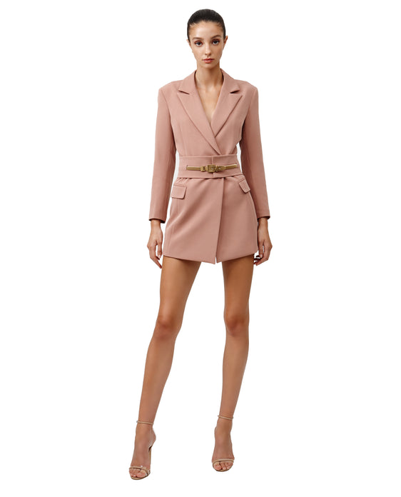 LEXI SACHA JACKET DRESS IN DUSTY PINK