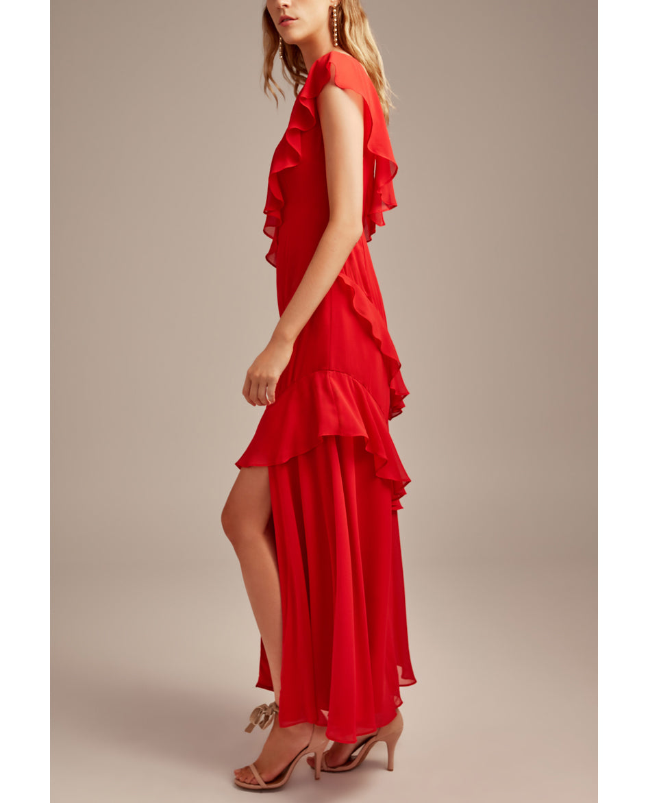 KEEPSAKE THE LABEL RUN FREE RED GOWN
