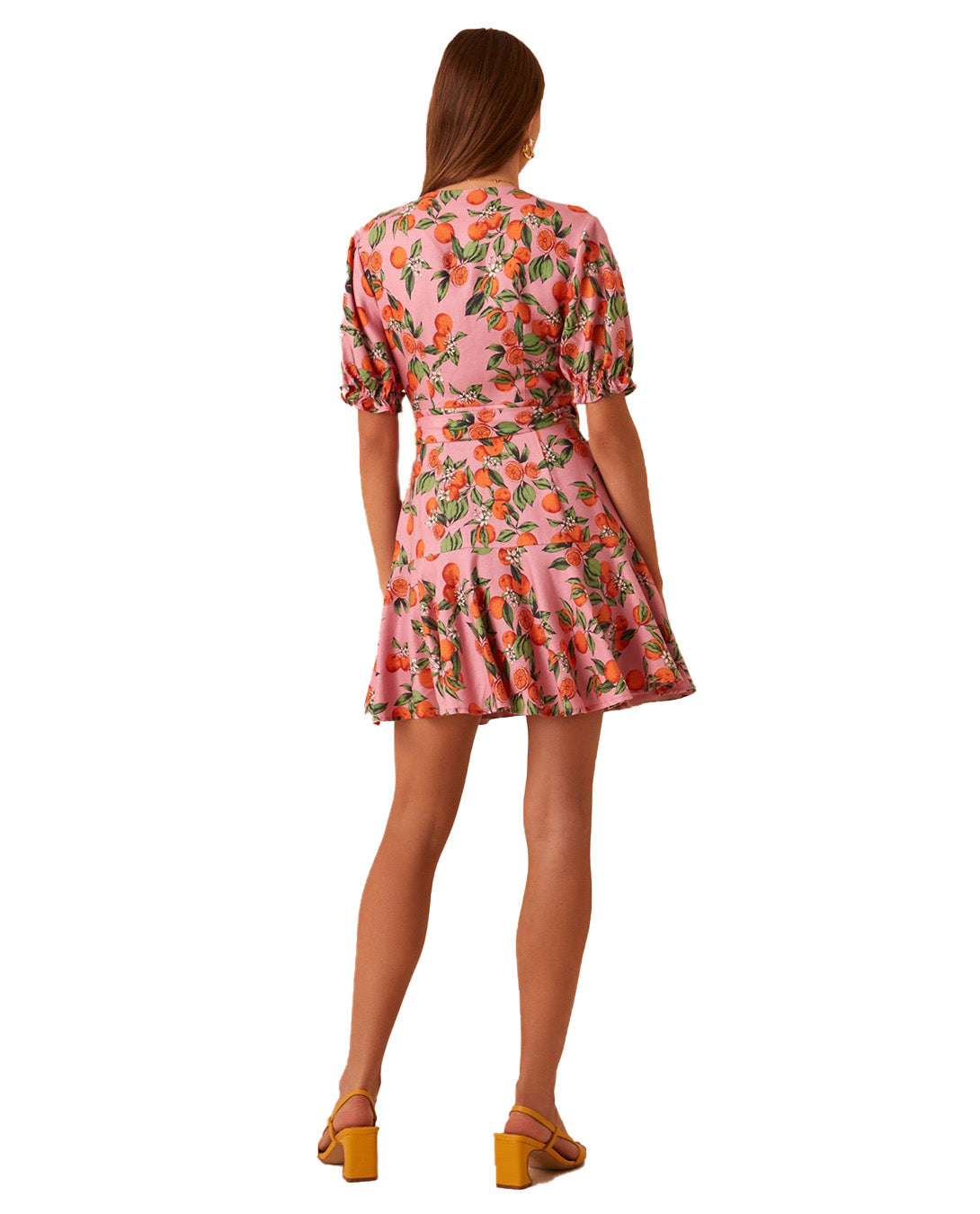 FINDERS KEEPERS PINK CLEMENTINE WRAP DRESS
