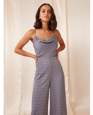 FINDERS KEEPERS NAVY CATALINA PANTSUIT