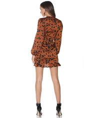 RUNAWAY THE LABEL AUBREY RUST DRESS