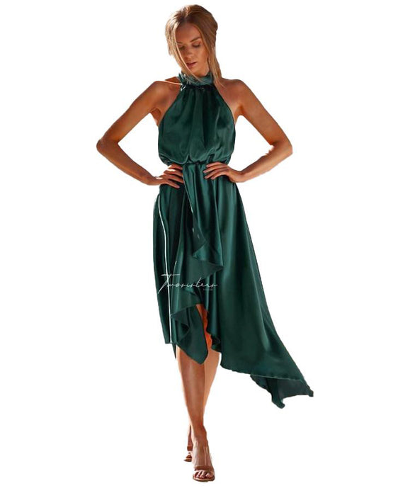 TWOSISTERS THE LABEL KATHLEEN DRESS IN EMERALD GREEN