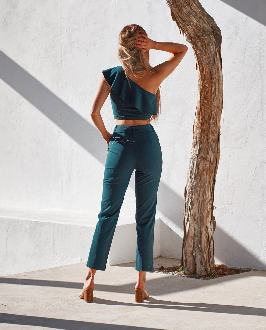 TWOSISTERS THE LABEL SHANNON CO-ORD IN GREEN
