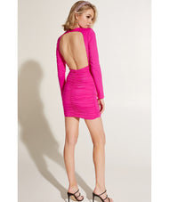 BARDOT ELENA PINK SHOCK DRESS