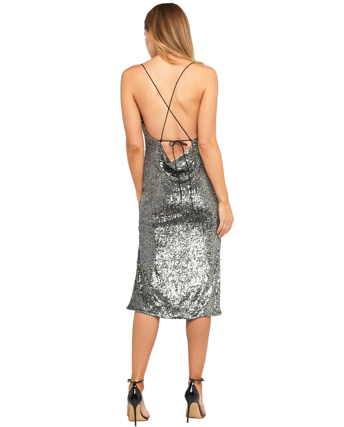BARDOT SEQUIN SLIP DRESS
