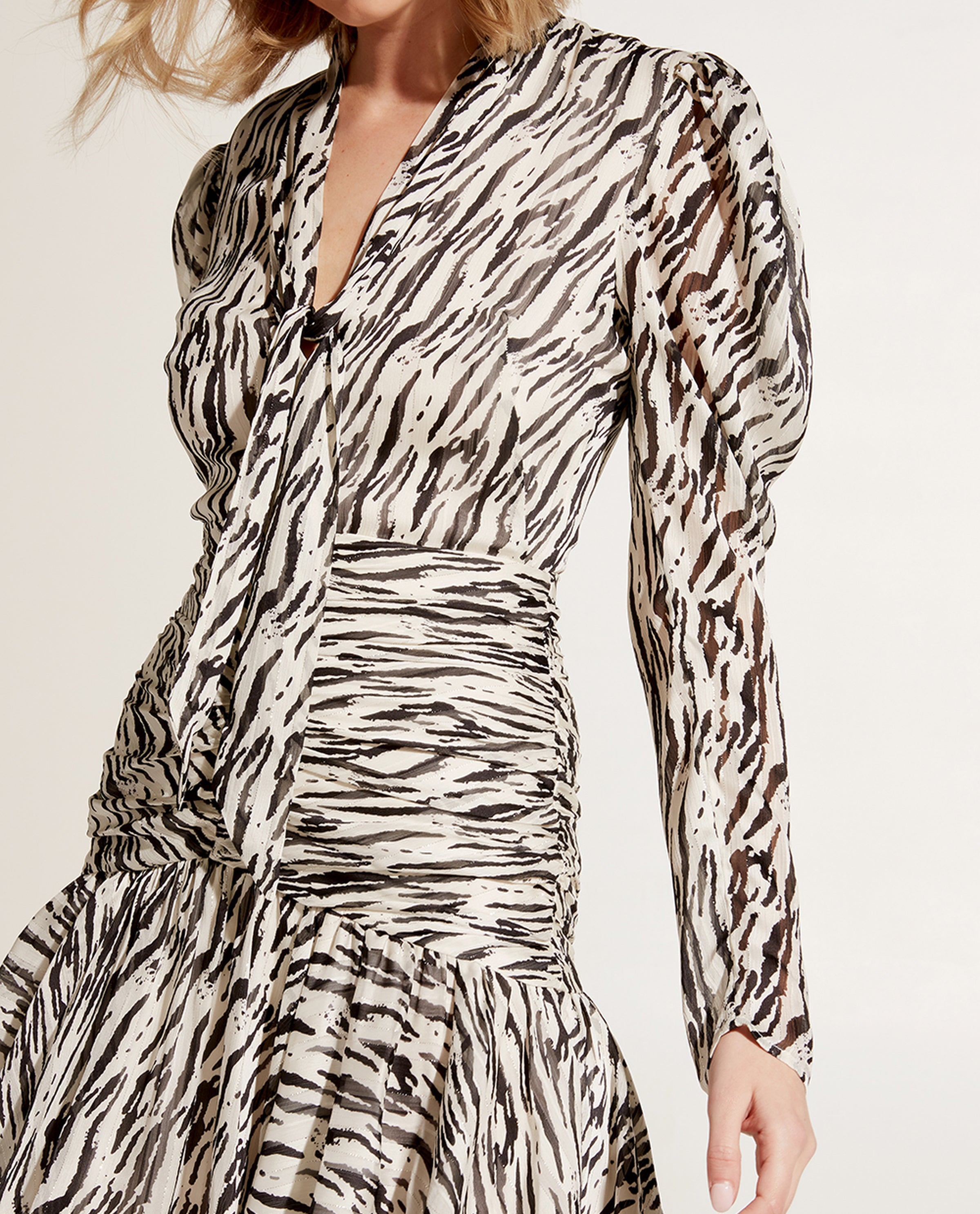 BARDOT ZEBRA MINI DRESS