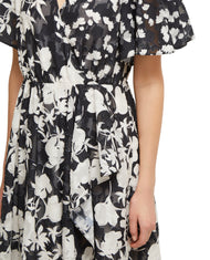 FRENCH CONNECTION BAMBA DEVORE V NECK DRESS