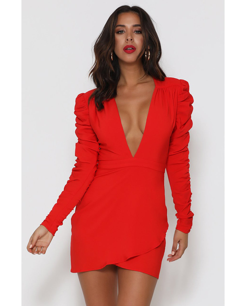 RUNAWAY THE LABEL LARA RED DRESS