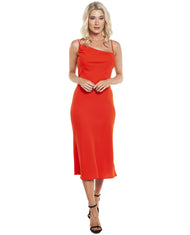 FINDERS KEEPERS RED CHAINS DRESS