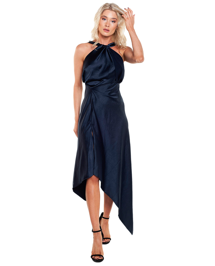 ONE FELL SWOOP AUDREY NAVY DRESS