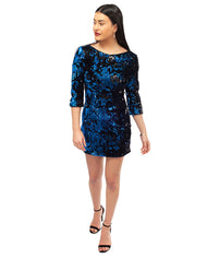 HIRE ZARA BLUE SEQUIN MINI DRESS