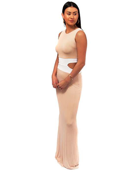 HIRE GORGEOUS COUTURE PALE PINK MAXI