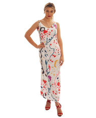 NEVER FULLY DRESSED LOVE MAXI SPLIT DRESS