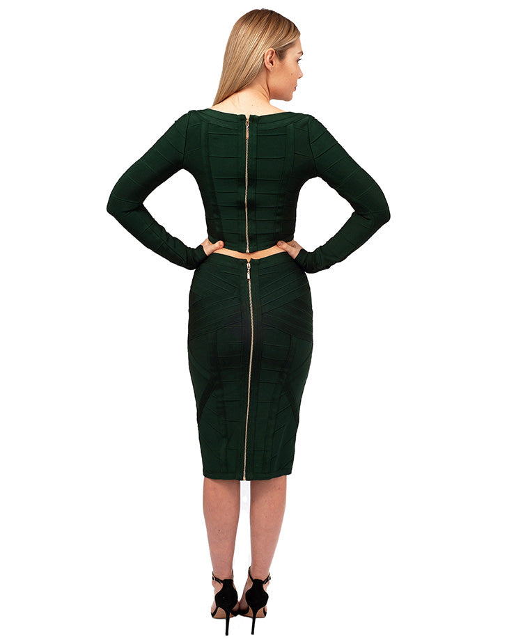HIRE FOREVER UNIQUE GREEN BANDAGE CO-ORD