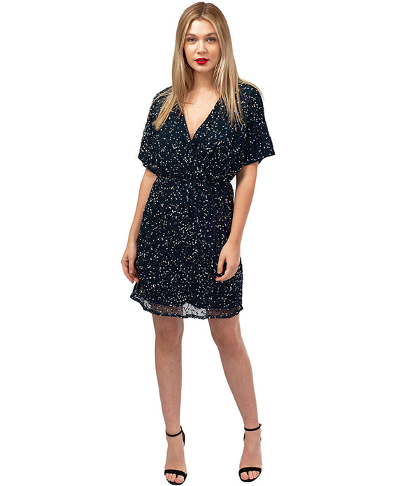 ASOS NAVY SEQUIN MINI DRESS