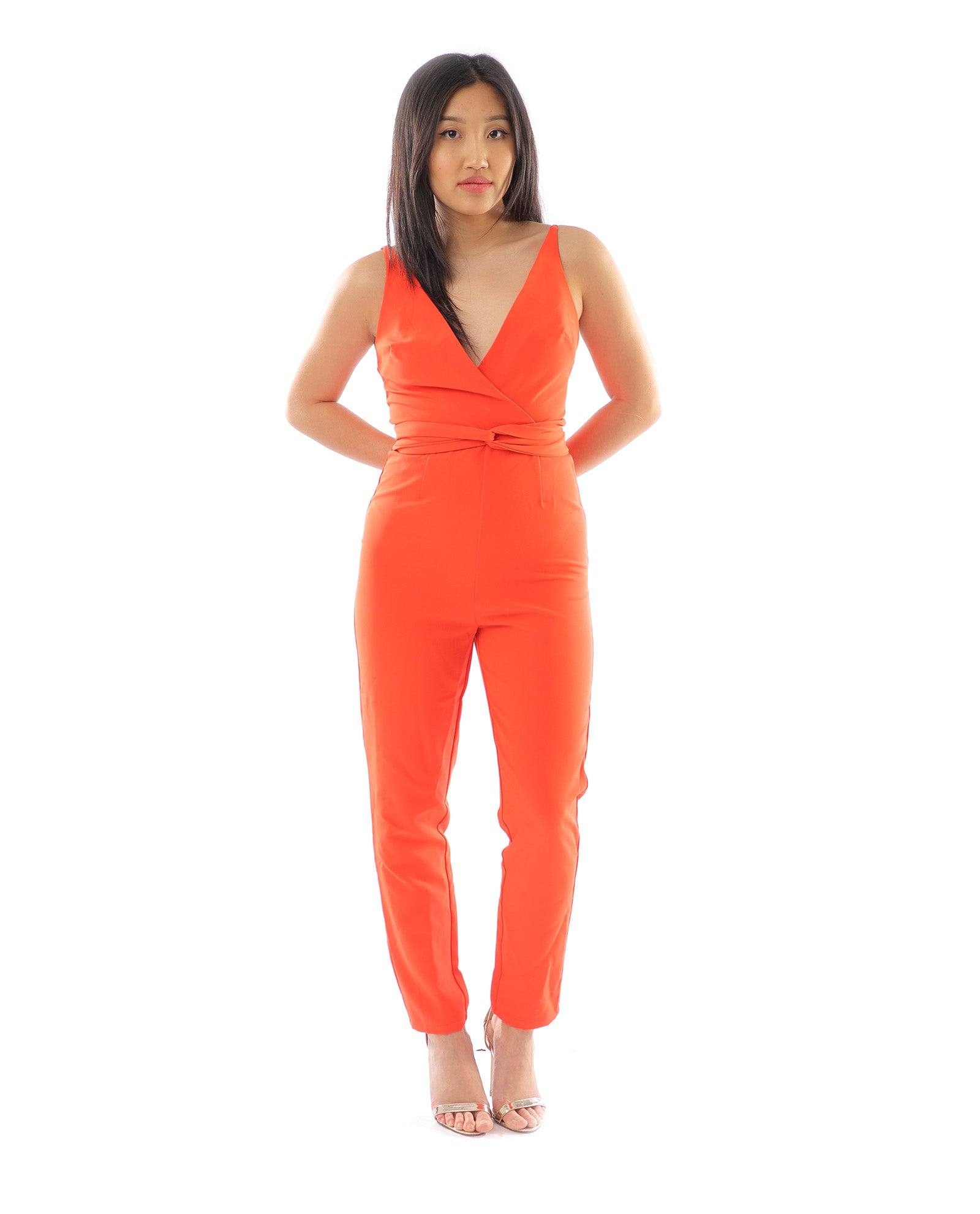 Rent dress | ASOS orange tie jumpsuit | Hirestreetuk.com