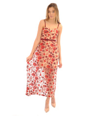 1f199854e286c5 Hire Embroidered Floral Red Maxi Dress